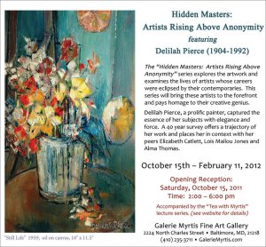 Hidden Masters: Artists Rising Above Anonymity Featuring Delilah Pierce