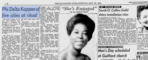 Delilah W Pierce & Founders Day Celebration 1962