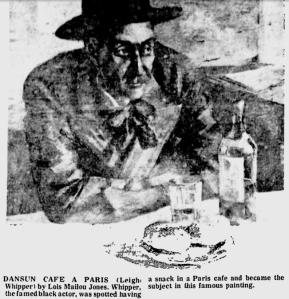 Afro American Newspaper Print, Dansun Cafe A Paris By Lois Mailou Jones.