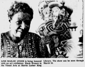 Lois Mailou Jones, Black Women in the Visual Arts, Martin Luther King Library Wash, DC, March 10 1979.